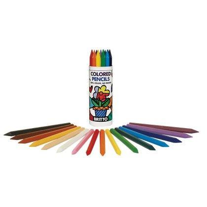 Britto Hexagon Colored Pencils (16 Colors) - P'kolino