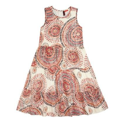 All Over Print Layered Dress Sleeveless - White - SUPER YOUNG