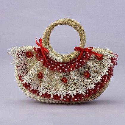 Cute Bags With Adorable Designs On Both Sides- Red/olive - Cute Delights
