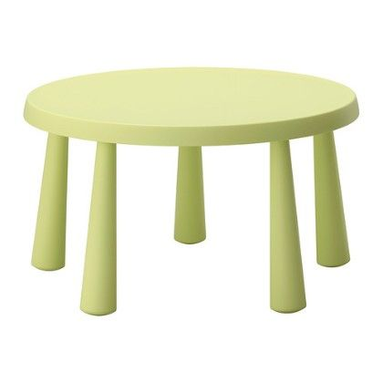 Children's Table, Indoor & Outdoor- Light Green - Home Essentials