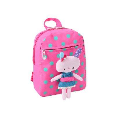 Cute Polka Print Kids Backpack - Fuchsia - CarryAll