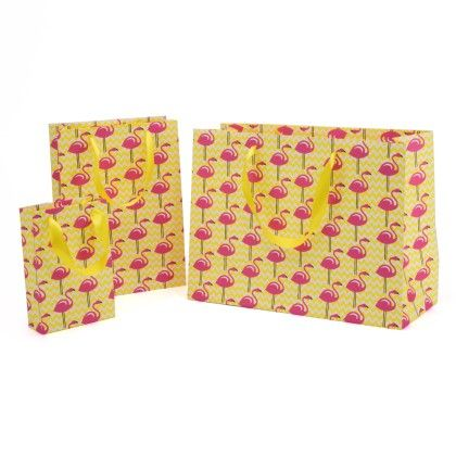 Flamingo Gift Bag- Set Of 3 - Magnolia Design