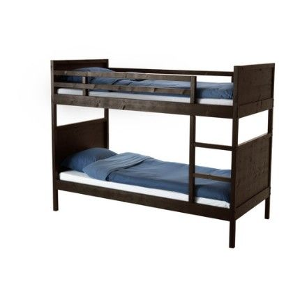 Bunk Bed Frame- Black & Brown - Home Essentials