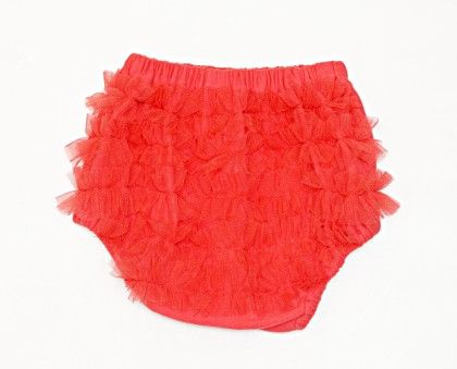 Frilly Bloomer/diaper Cover For Baby Girls Coral - D'chica