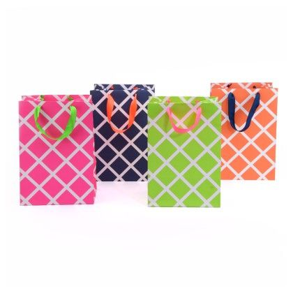 Lattice Mix Gift Bag - Set Of 4 - Magnolia Design
