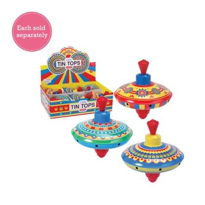 Mini Tin Tops Assorted - Schylling Toys