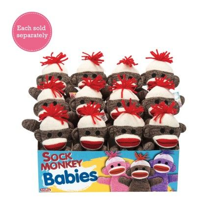 Brown Sock Monkey Baby - Schylling Toys