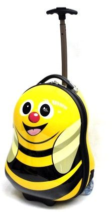 "Cazbi The Bee - 17"" Hard Trolley Case - Cuties & Pals"