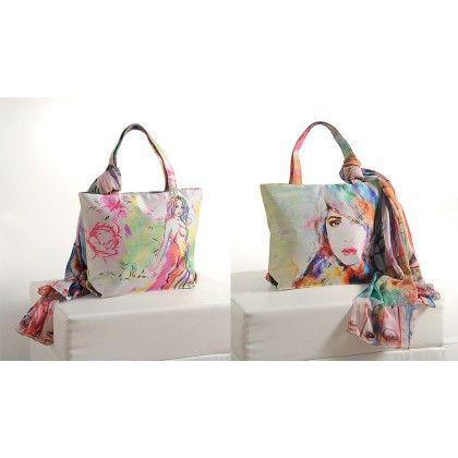 Swayam Digital Printed, Fashion Shopping Bag With Trendy Scarf (with Nice Motif)-6