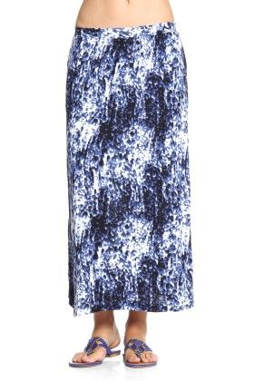 Full Length Skirt With Side Slits And Straight Hemline - Cotton World
