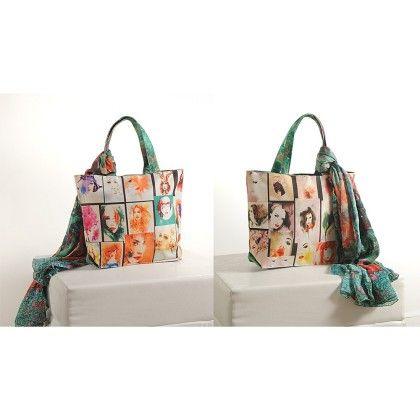 Swayam Digital Printed, Fashion Shopping Bag With Trendy Scarf (with Nice Motif)-7