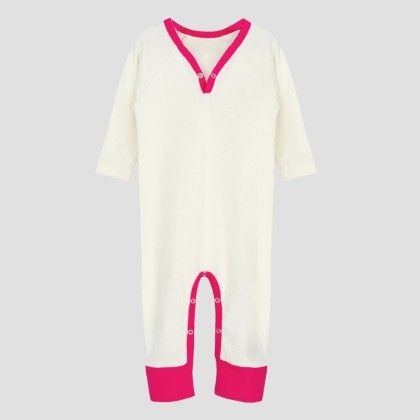 Ivory- Hotpink Long Sleeve Jumpsuit - A.T.U.N