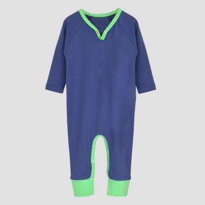 Blue Grape- Green Long Sleeve Jumpsuit - A.T.U.N