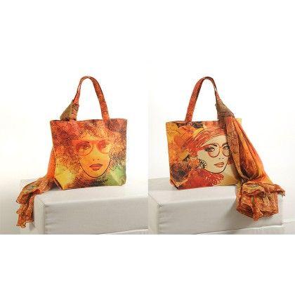 Swayam Digital Printed, Fashion Shopping Bag With Trendy Scarf (with Nice Motif)-8