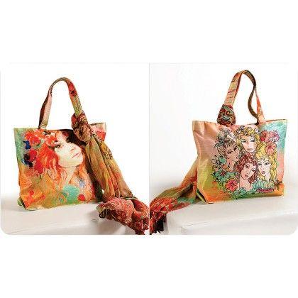 Swayam Digital Printed, Fashion Shopping Bag With Trendy Scarf (with Nice Motif)-2