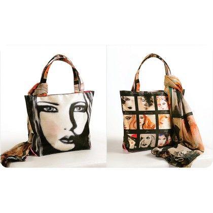 Swayam Digital Printed, Fashion Shopping Bag With Trendy Scarf (with Nice Motif)-3
