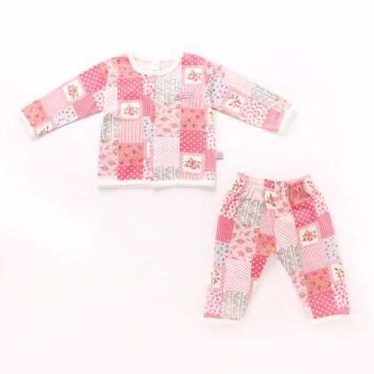 Girls All Over Printed Nightsuit - Pink - TOFFYHOUSE