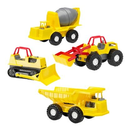 Assorted Construction Vehicles - American Plastic Toys