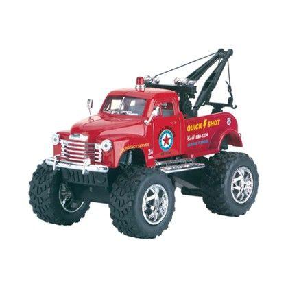 Die Cast Big Wheel Tow Truck - Schylling Toys