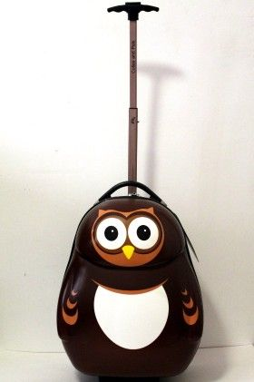 "Pipi The Owl - 17"" Hard Trolley Case - Cuties & Pals"