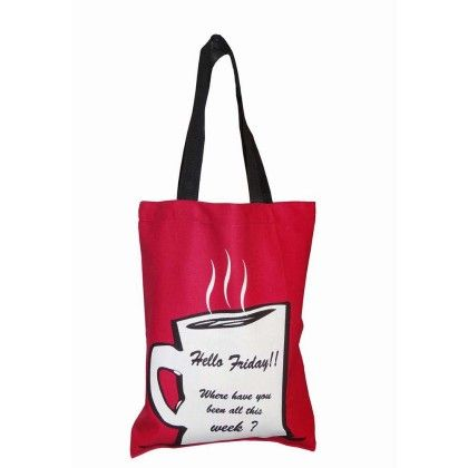 Swayam Canvas Shopping Bag, With Nice Graffittis-1