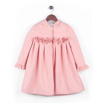 Sweetest Pink Riding Coat With Hood - Joe Ella