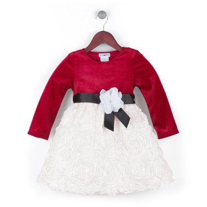 Colour Blocked Dress With Black Ribbon - Joe Ella