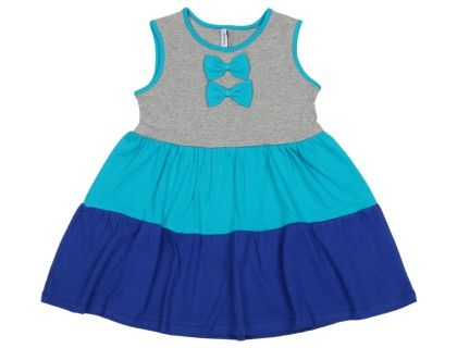 Colourblock Dress - Blues - Campana