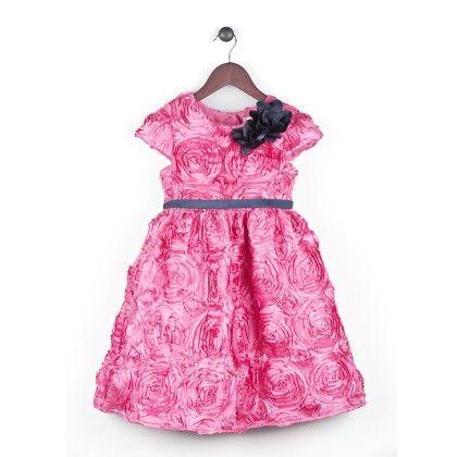 Texturized Satin Dress With Cap Sleeve - Joe Ella