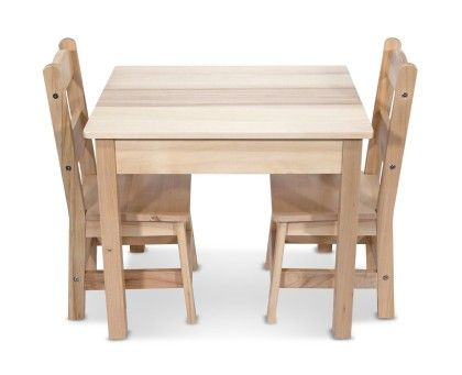 Wooden Table & Chairs Set - MELISSA & DOUG