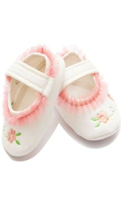 Dainty White And Pink Flower Booties For Baby Girls - White - D'chica