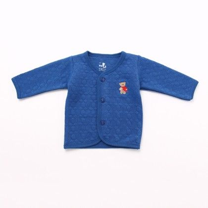 Front Open Plain Square Design With Full Sleeve - Dark Blue - Mom's Pet