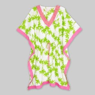 Lime Green Palm Tree Print Womens