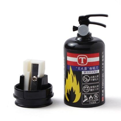 Fire Extinguisher Sharpener - Black - Happy Gifts