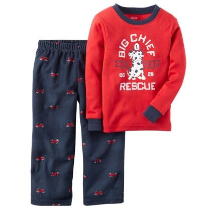 4-piece Snug Fit Cotton Pjs - Red - Carter's - 146938