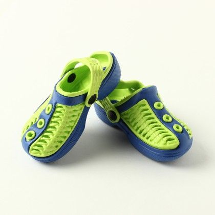 Polo Clog Green With Blue - S&S