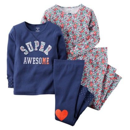 4-piece Snug Fit Cotton Pjs - Navy - Carter's - 146939