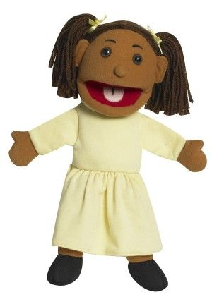Ethnic Children Puppets - Girl - Med. Tone - The Children's Factory