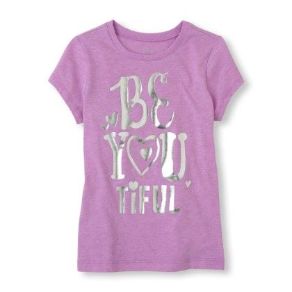 Short Sleeve 'be You Tiful' Ombre Graphic Tee - The Children's Place