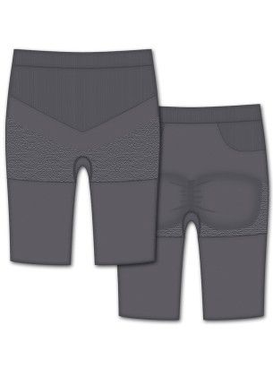 Seamless Engineered Bike Short-gray - Rene Rofe
