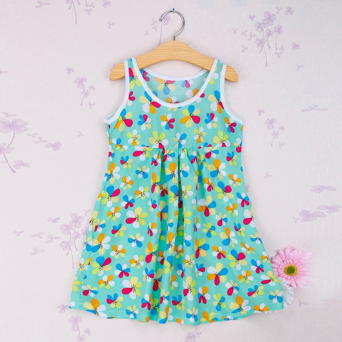 Green Multi Floral Print Dress - Snuggle Bunny