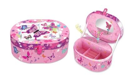 Oval Shaped Musical Jewelry Box - Paradise - Hot Focus Toys