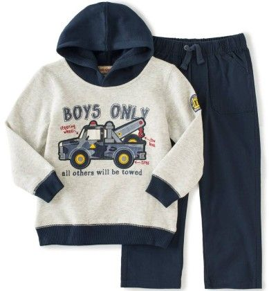 Towing Van Pullover Fleece Hoodie & Pant Set - Kids Headquarters