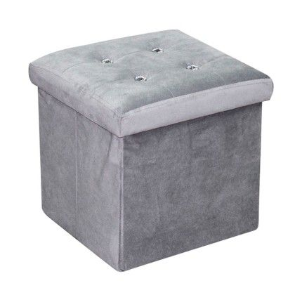 Ottoman With Stones Gray - HDS