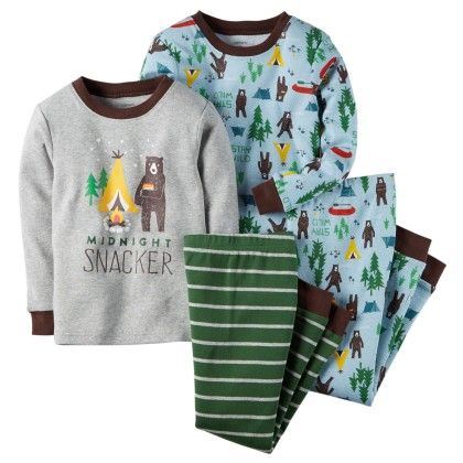 4-piece Snug Fit Cotton Pjs - Carter's - 146937