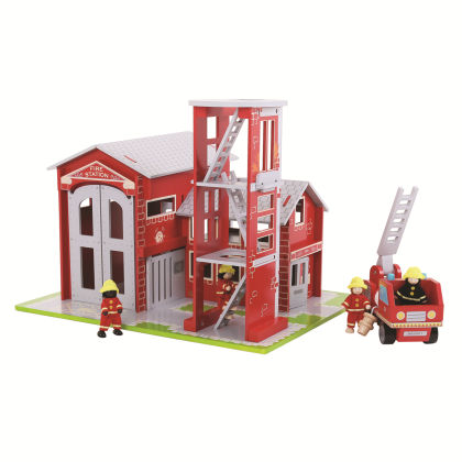 Heritage Playset Fire Station And Engine - Big Jig Toys