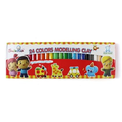 Set Of 24 Modelling Clay  - Multi - Happy Gifts