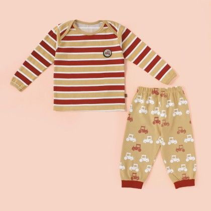 Stripe Fs Pyjama Set - Fawn - Mini Taurus