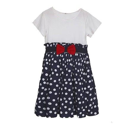 White And Blue Polka Dot Dress - My Lil'Berry