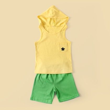 Cutiepie 2pc Set- Yellow - Lil Mantra